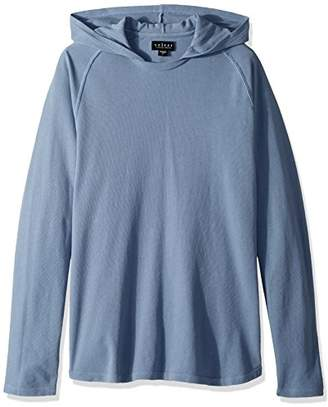 Velvet by Graham & Spencer Men's Velvet Cotton Pullover with Stitched-in Hoodie