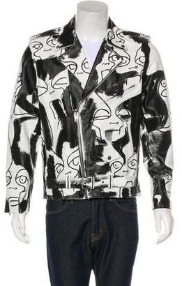 Church's Patrick x Muse0 Hand-Painted Leather Moto Jacket