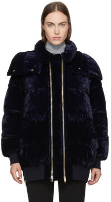 Stella McCartney Navy Velvet Stefani Jacket
