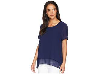 MICHAEL Michael Kors Back Cut Out Short Sleeve Top