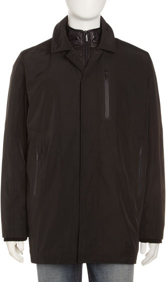 Tumi T-tech by Double-Zip Water-Resistant Jacket, Black