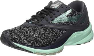 Brooks Women's Ghost 10 D Running Shoe (BRK-120246 1D 3887230 7 067 BLACK/PINK/CORAL)