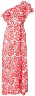 Lisa Marie Fernandez printed one shoulder ruffle dress