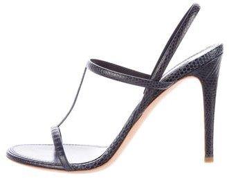 Ralph Lauren Collection Lizard Slingback Sandals
