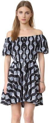 Caroline Constas Bardot Embroidered Dress $685 thestylecure.com
