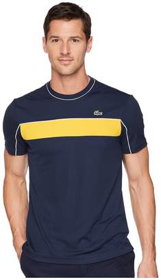 Lacoste Short Sleeve Jersey Tech w/ Novak Graphic Men's Short Sleeve Pullover