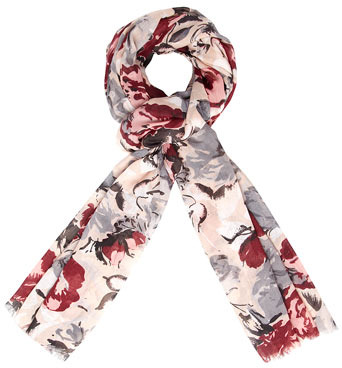 Dorothy Perkins Nude large floral scarf
