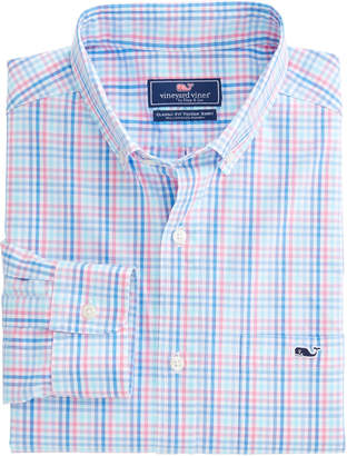 Vineyard Vines Friendly Island Check Classic Stretch Tucker Shirt