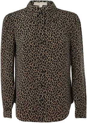 Michael Kors Leopard Print Fitted Shirt
