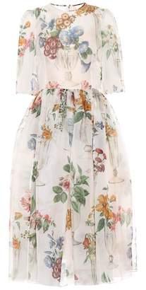 Dolce & Gabbana Floral silk organza midi dress