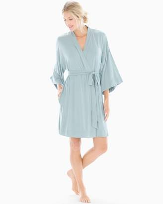 Cool Nights Kimono Sleeve Short Robe Slated