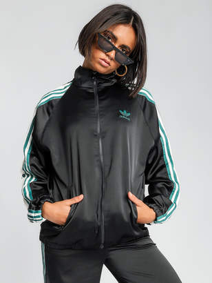 adidas Satin Adribreak Track Top in Black
