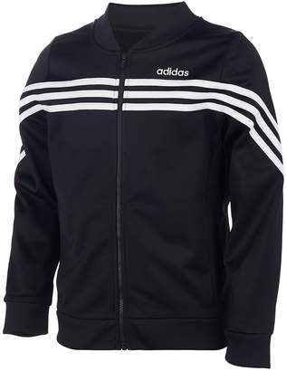 adidas Girls' 7-16 Linear Tricot Zip-Up Jacket