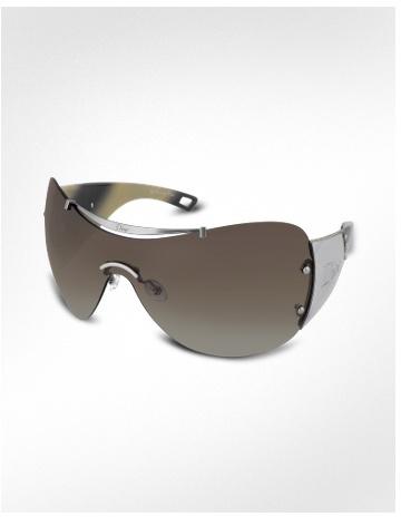 Christian Dior Diorito 1 - Top Signature Bar Metal Shield Oversized Sunglasses