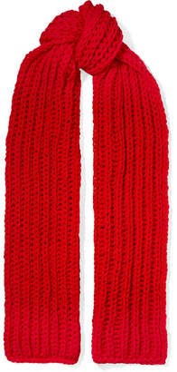 Awake Wool Scarf - Red
