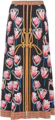 Temperley London Arabesque Printed Crepe Skirt