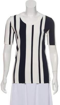 Diane von Furstenberg Striped Short Sleeve Top w/ Tags