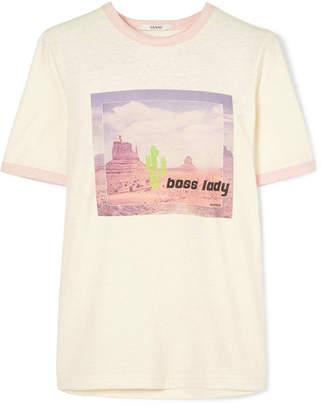Ganni Printed Jersey T-shirt - White