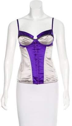Dolce & Gabbana Silk Bustier Top