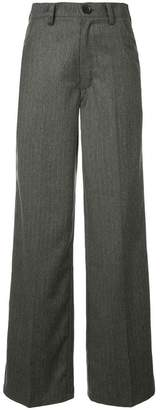 Walk Of Shame chalk stripe high waist trousers