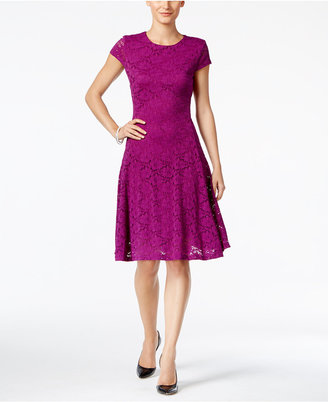 Alfani Lace Fit & Flare Dress, Only at Macy's $99.50 thestylecure.com