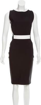 Thierry Mugler Contrast Sleeveless Dress