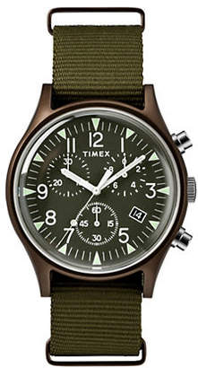Timex BOUTIQUE Chronograph MK1 Olive Fabric Strap Watch