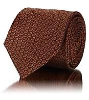 Barneys New York Men's Abstract-Geometric Silk Jacquard Necktie - Orange