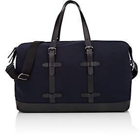 Barneys New York Men's Canvas Duffel Bag-Navy