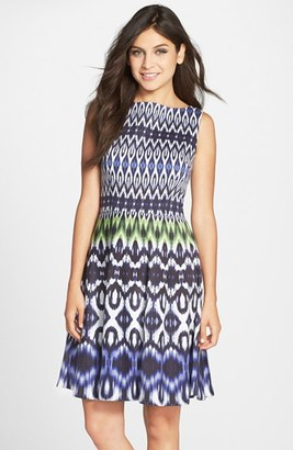 Women's Maggy London Print Cotton Sateen Fit & Flare Dress $128 thestylecure.com