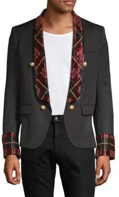 Balmain Embroidered Button Front Jacket