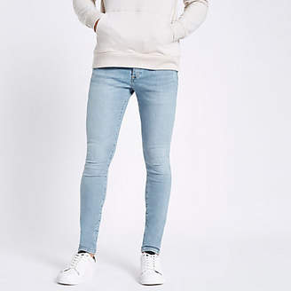 River Island Light blue Ollie spray on skinny jeans