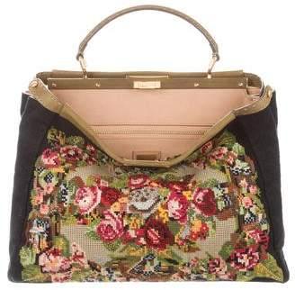 Fendi Tapestry Large Peekaboo Bag