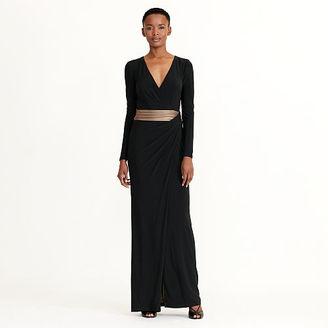 Ralph Lauren Metallic-Trim Jersey Gown $194 thestylecure.com