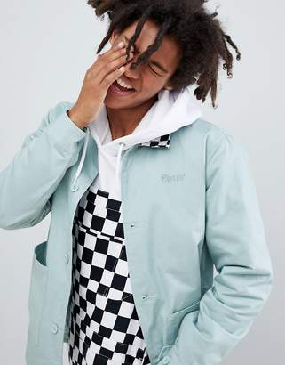 N. Rip Dip RIPNDIP twill jacket with checkerboard collar in green