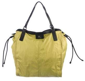 Burberry Leather-Trimmed Buckleigh Tote