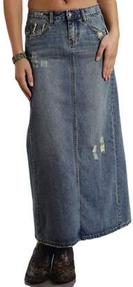 Stetson Western Skirt Womens Denim Stretch Med 11-060-0202-0469 BU