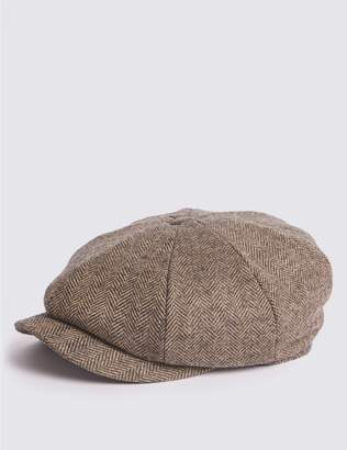 Marks and Spencer Pure Wool Baker Boy Hat