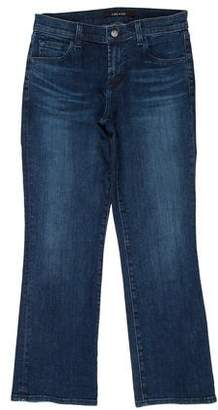 J Brand Mid-Rise Straight-Leg Selena Jeans