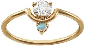 WWAKE Small Nestled Diamond & Opal Ring