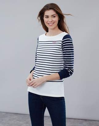 92bcd9c8ec Joules Hello Stripe Harbour Embroidered Long Sleeve Jersey Top Size 18