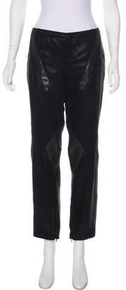 Gucci Leather Look Mid-Rise Pants