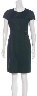 Etro Embroidered Wool Dress Green Embroidered Wool Dress