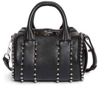 Alexander Wang Mini Rockie Studded Leather Crossbody Satchel