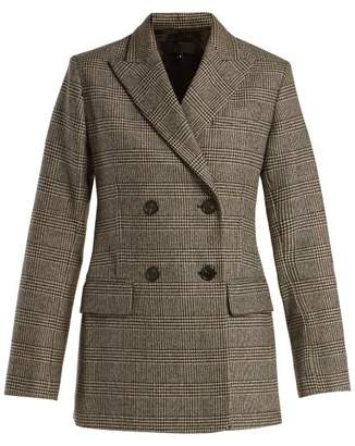 Nili Lotan Leander Prince Of Wales Check Wool Blend Blazer - Womens - Grey