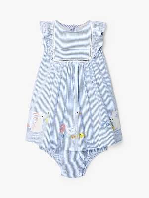 2db352b4150 John Lewis   Partners Baby Bunny Stripe Dress and Knickers Set