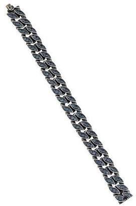David Yurman Color-Change Garnet Curb Chain Bracelet