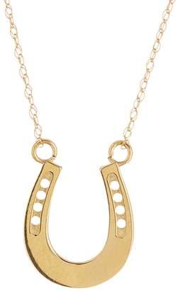 Candela 10K Yellow Gold Horseshoe Pendant Necklace