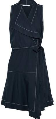 Derek Lam 10 Crosby Cotton-Poplin Mini Wrap Dress