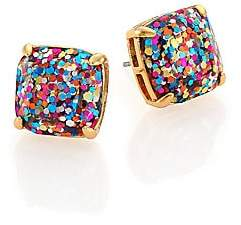 Kate Spade Women's Small Square Glitter Stud Earrings